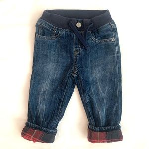 Gap my first easy slim plain cotton lined jeans